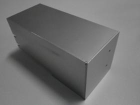 BOX(t=1.5) (アルミ+ファイバーレーザー溶接+白アルマイト)